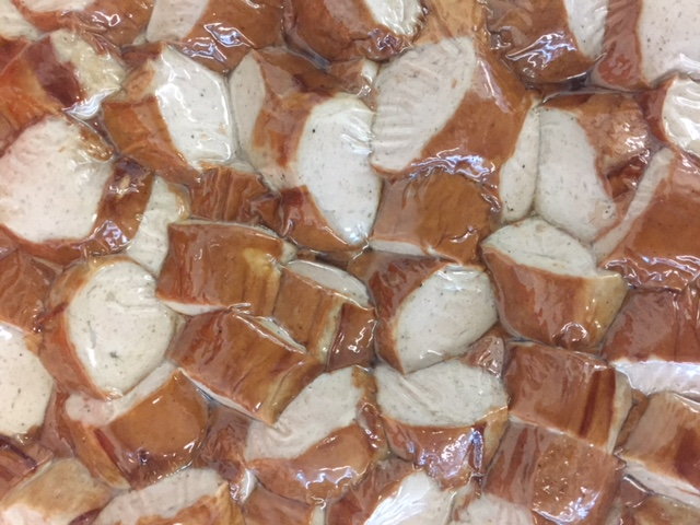 Damhus Bratwurst, gebraten-geschnitten, 1000g