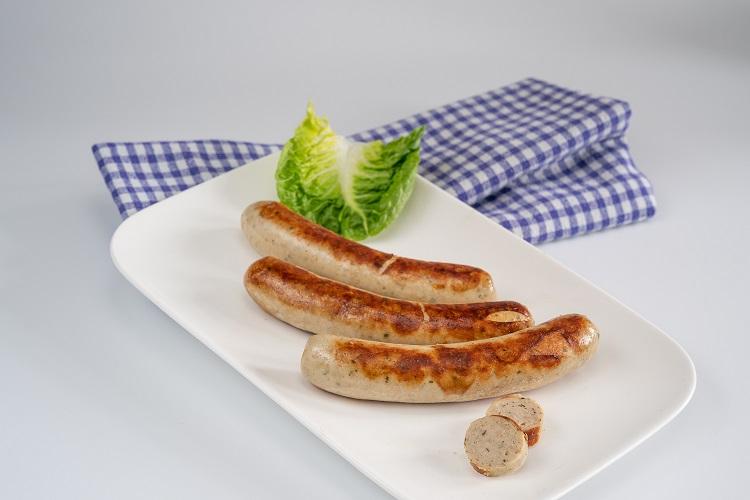 """Bratwurst """"fein"""" mit Kalbfleisch, 4x80g, Naturdarm"""